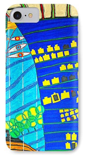 Hundertwasser Blue Moon Atlantis Escape To Outer Space IPhone Case