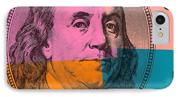 Hundred Dollar Bill Pop Art IPhone Case by Dan Sproul