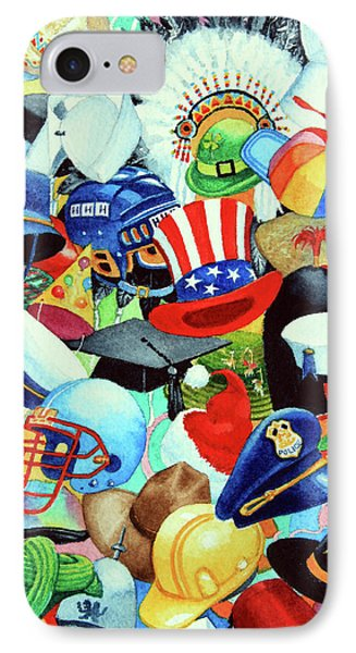 Hundreds Of Hats Phone Case by Hanne Lore Koehler
