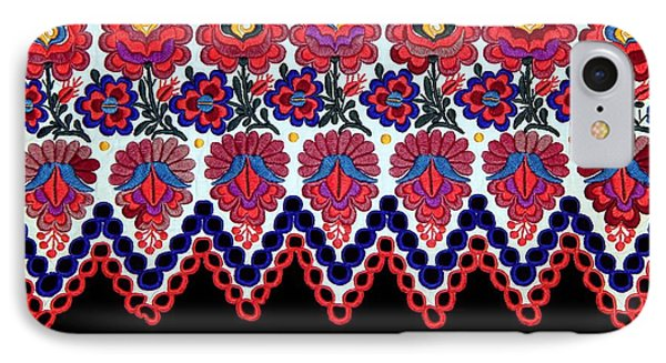 Hungarian Folk Art Embroidery From Sioagard IPhone Case by Andrea Lazar