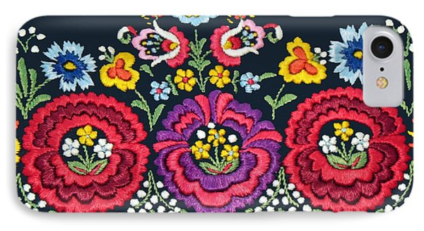 Hungarian Magyar Matyo Folk Embroidery Detail IPhone Case by Andrea Lazar