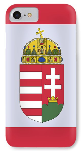 IPhone Case featuring the drawing Hungary Coat Of Arms by Movie Poster Prints