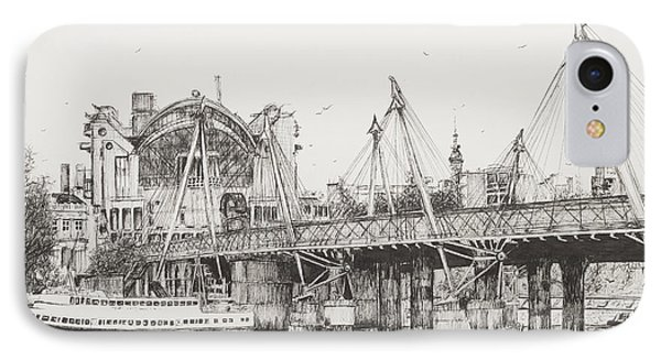 Hungerford Bridge IPhone Case by Vincent Alexander Booth