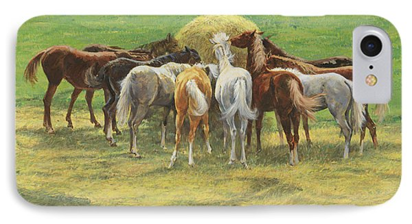Hungry Yearlings At Big Creek IPhone Case
