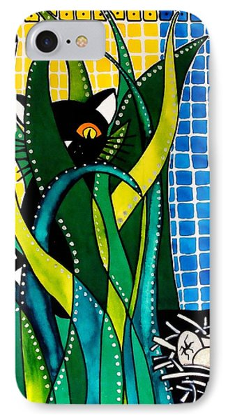 Hunter In Camouflage - Cat Art By Dora Hathazi Mendes IPhone Case