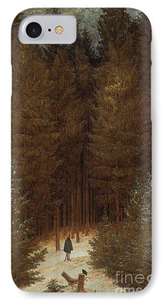 Hunter In The Forest  IPhone Case by Caspar David Friedrich