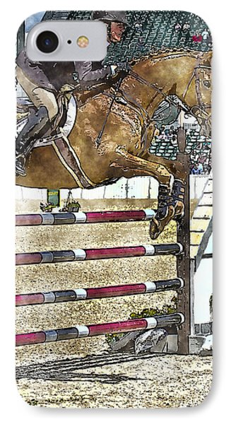 Hunter Jumper Equestrian IPhone Case by Carrie Cranwill