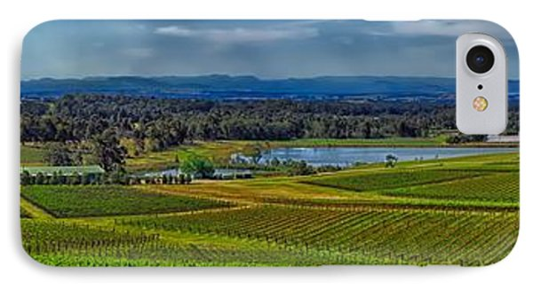 Hunter Valley Vineyards - Australia IPhone Case by Thinkrorbot