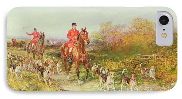 Hunting Scene IPhone Case by Heywood Hardy