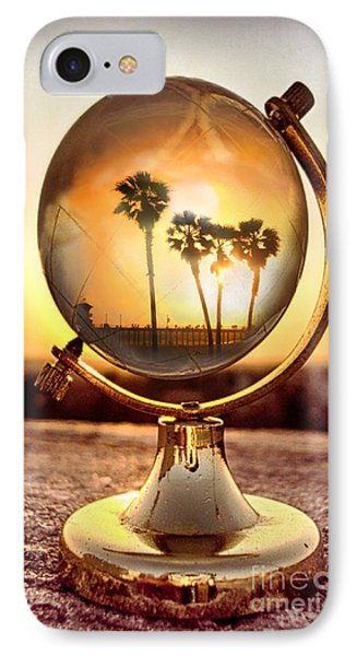 Huntington Beach Globe IPhone Case