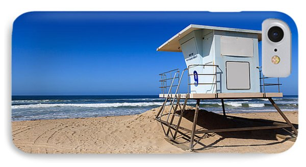 Huntington Beach Lifeguard Tower Photo IPhone Case by Paul Velgos