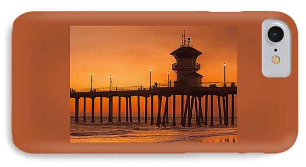 Huntington Beach Pier, California  IPhone Case by Don Spenner