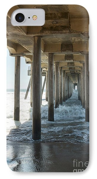 IPhone Case featuring the photograph Huntington Beach Pier From Below by Ana V Ramirez
