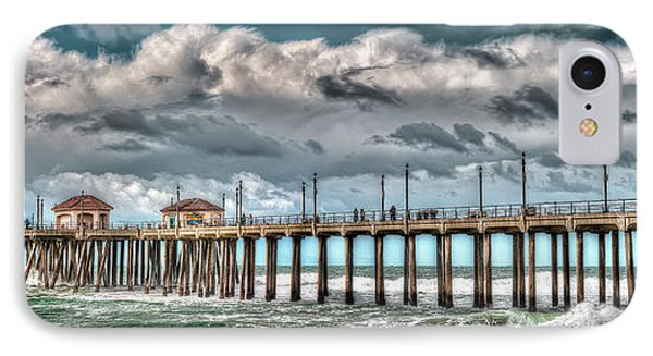 IPhone Case featuring the photograph Huntington Beach Winter 2017 by Jim Carrell