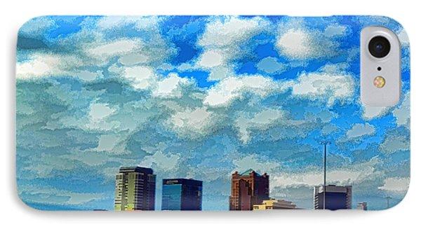 Huntsville Alabama Skyline Abstract Art IPhone Case