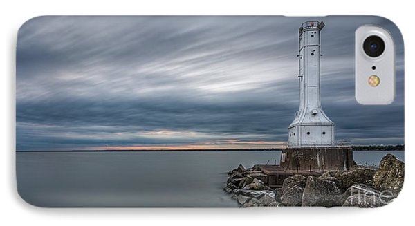Huron Harbor Lighthouse IPhone Case by James Dean