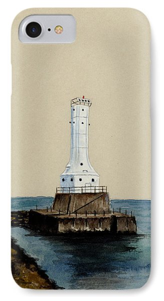 Huron Harbor Lighthouse Phone Case by Michael Vigliotti