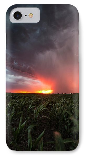 IPhone Case featuring the photograph Huron Lightning  by Aaron J Groen