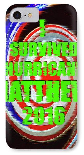 Hurricane Matthew Survivor IPhone Case by David Lee Thompson