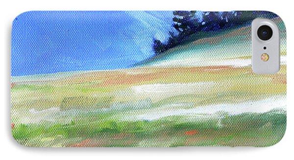 IPhone Case featuring the painting Hurricane Ridge by Nancy Merkle