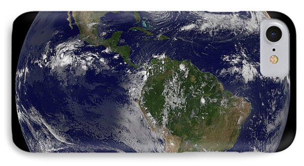 Hurricane Sandy Along The East Coast Phone Case by Stocktrek Images
