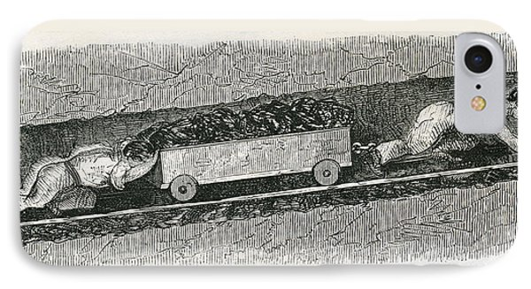 Hurriers In A Lancashire Coal Pit. A IPhone Case