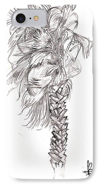 IPhone Case featuring the drawing Hurrracane Winds by Fanny Diaz