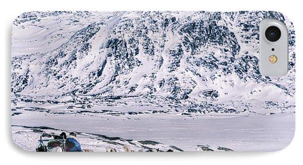 Huskies In Ilulissat, Greenland IPhone Case by Joana Kruse