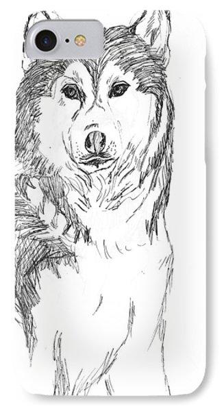 Husky Phone Case by Charme Curtin