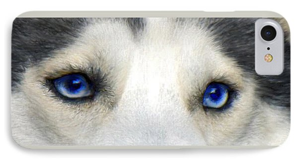 Husky Eyes Phone Case by Jane Schnetlage