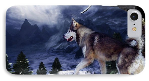 Husky - Mountain Spirit IPhone Case by Carol Cavalaris