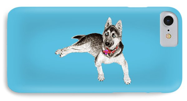 Husky Puppy Bella IPhone Case by Jack Pumphrey
