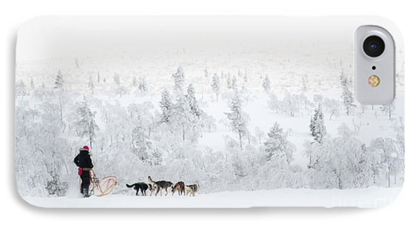 IPhone Case featuring the photograph Husky Safari by Delphimages Photo Creations