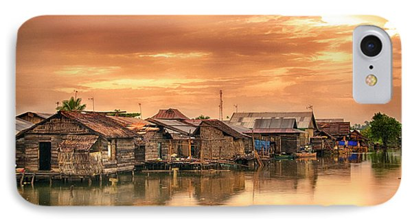 IPhone Case featuring the photograph Huts On Water by Charuhas Images