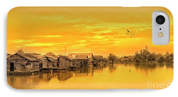 IPhone Case featuring the photograph Huts Yellow by Charuhas Images