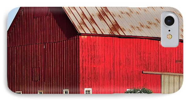 Hwy 47 Red Barn 21x21 IPhone Case by Jerry Sodorff