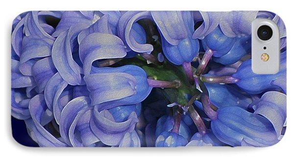 Hyacinth Curls IPhone Case by Lynda Lehmann