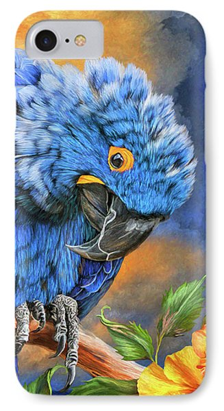 Hyacinth Macaw IPhone Case by Carol Cavalaris