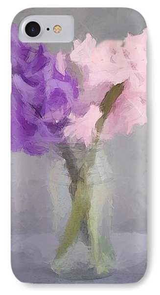 IPhone Case featuring the photograph Hyacinths In Jar by David Dehner