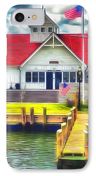 Hyannis The Coastguard IPhone Case by Jack Torcello