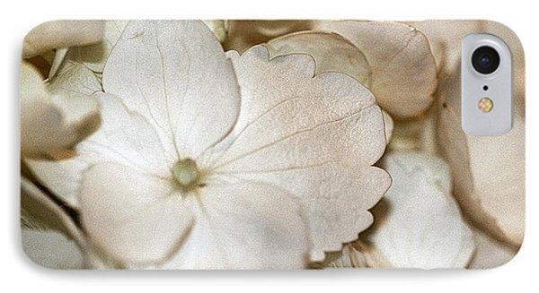 Hydrangea Blossom In Sepia Tones IPhone Case by Andrea Lazar