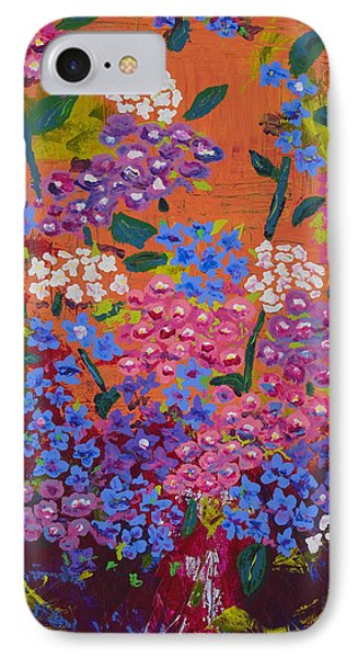 IPhone Case featuring the painting Hydrangea Collage by Angela Annas