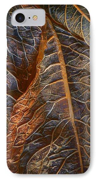 Hydrangea Leaves - Right IPhone Case by Nikolyn McDonald