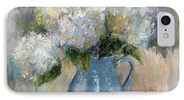IPhone Case featuring the painting Hydrangea Morning by Jennifer Beaudet