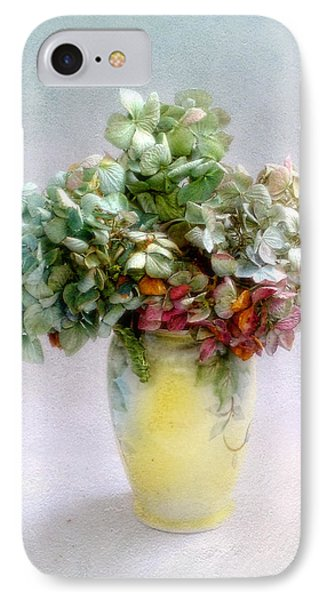 IPhone Case featuring the photograph Hydrangeas In Autumn Still Life by Louise Kumpf