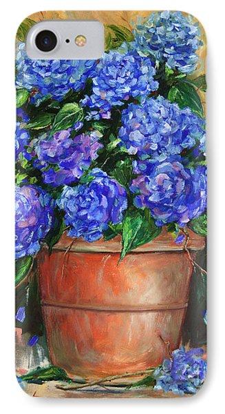 Hydrangeas In Pot Phone Case by Jennifer Beaudet