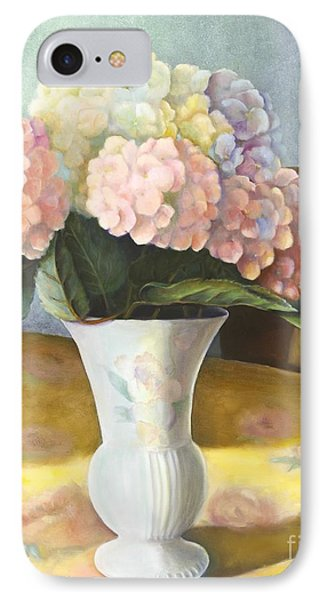 IPhone Case featuring the painting Hydrangeas by Marlene Book