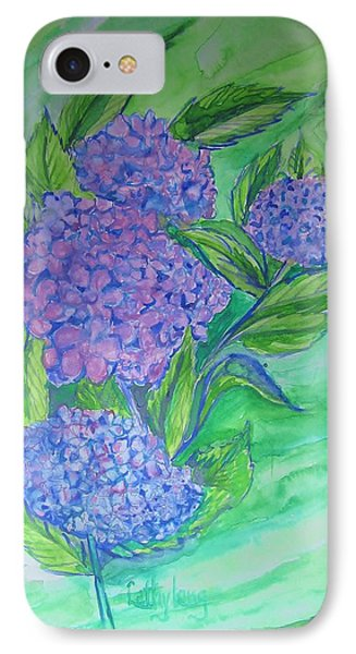 Hydrangea IPhone Case by Cathy Long
