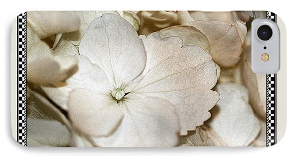 Hydrengea Blossom 3 Framed IPhone Case by Andrea Lazar