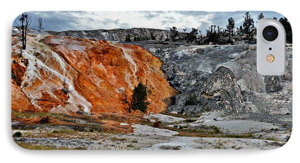 Hymen Terrace At Mammoth Hot Springs - Yellowstone National Park Wy Phone Case by Christine Till